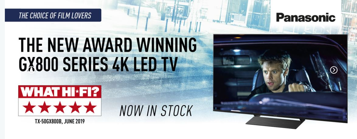 Award Winning Panasonic GX800 TV
