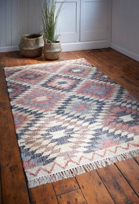 Click to buy hand woven patterned Jute rug made from sustainable Jute