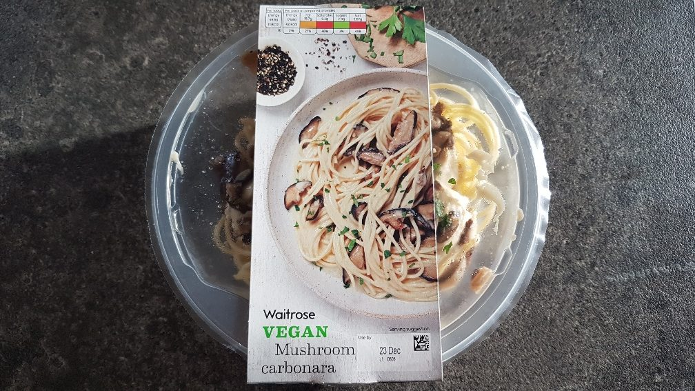 Review of Waitrose Vegan Mushroom Carbonara