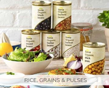 Shop for UK sourced organic beans and rice