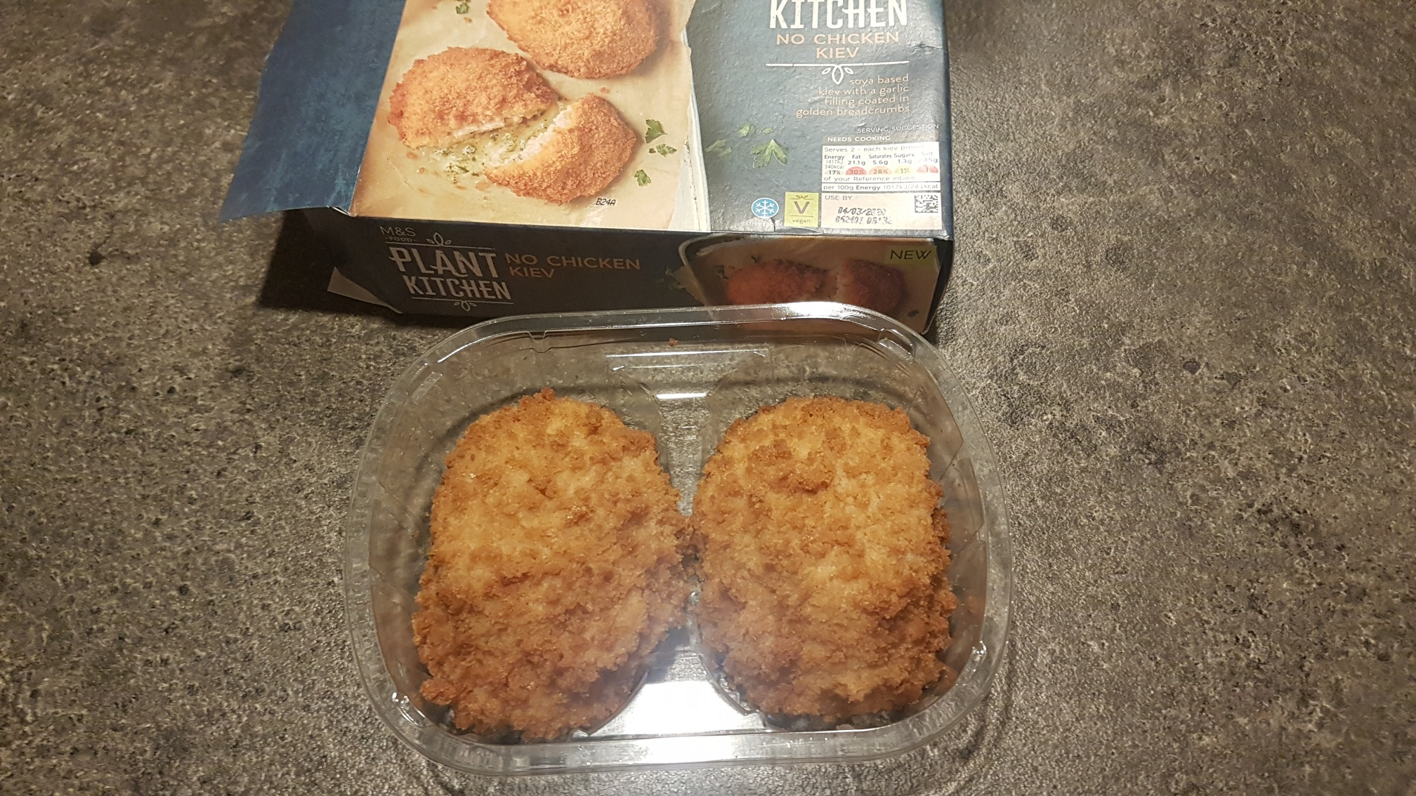 Vegan alternative to Chicken Kiev