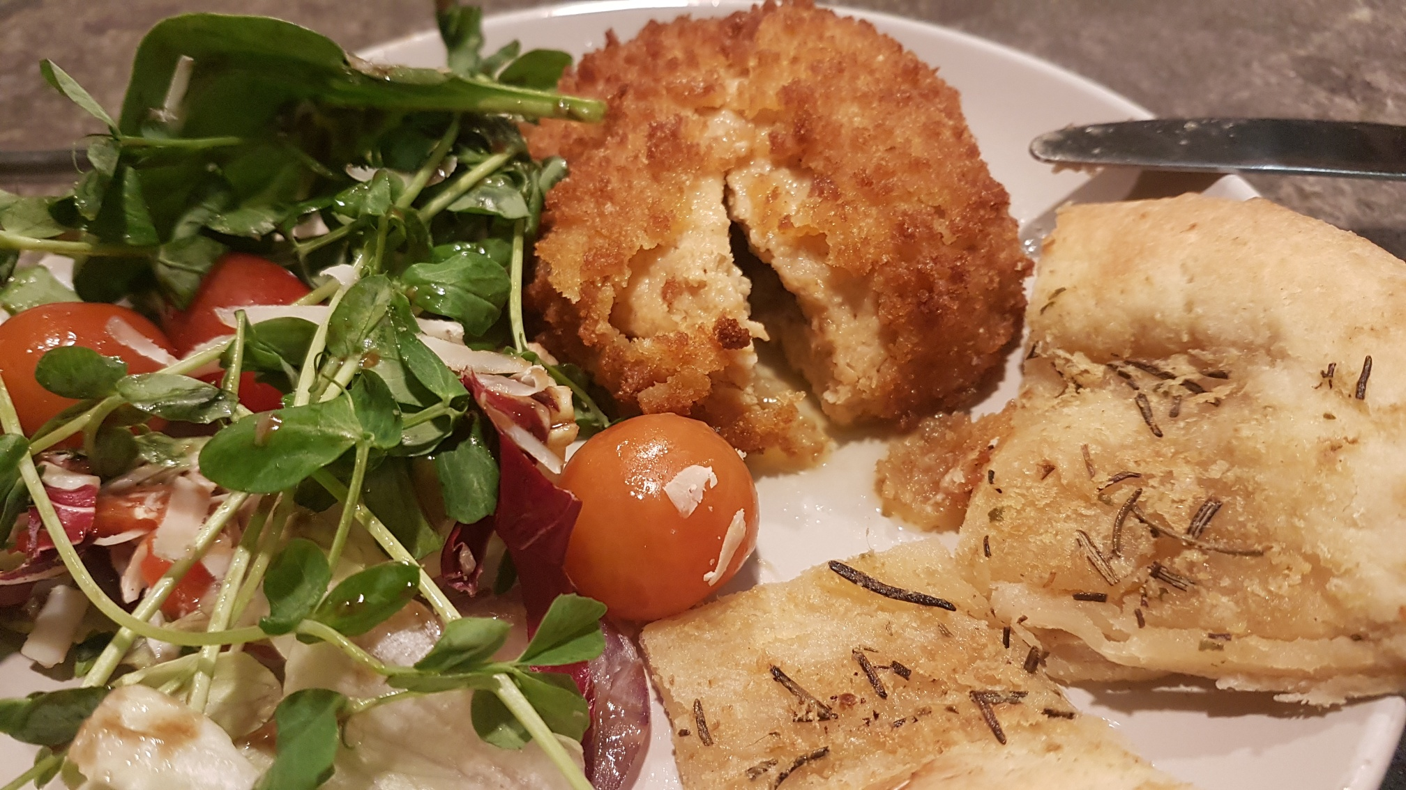 What is it like inside a No Chicken M&S Kiev?