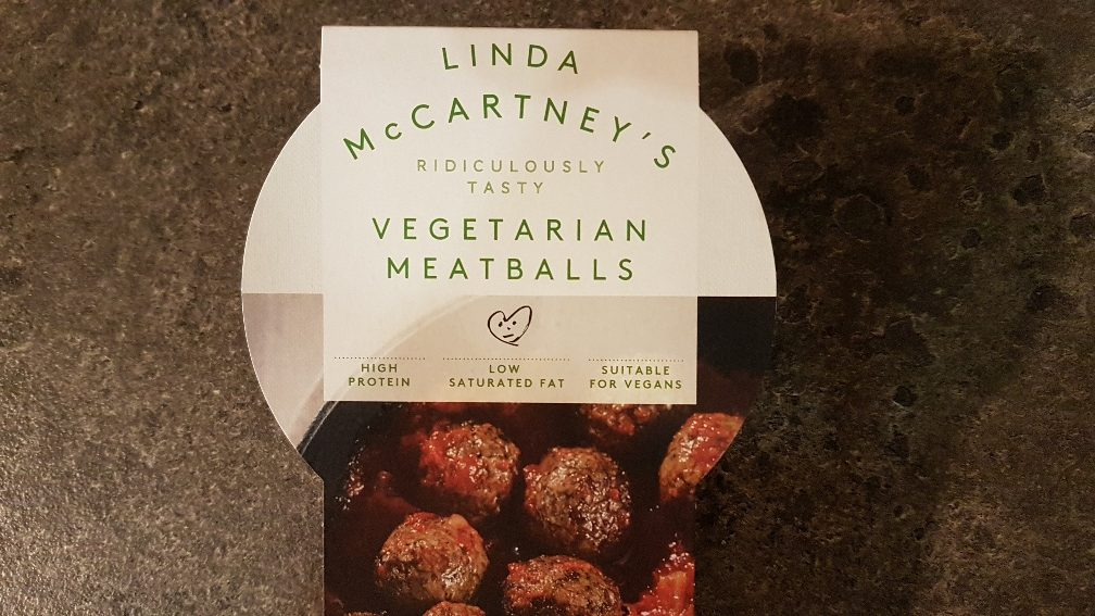 Review of Linda McCartney`s vegan meatballs