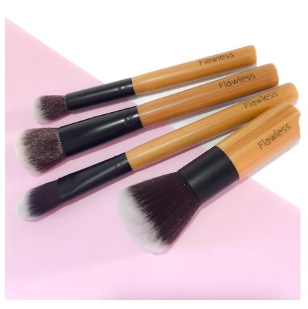 Eco bamboo makeup brushes