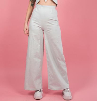 Linen and cotton blend trousers