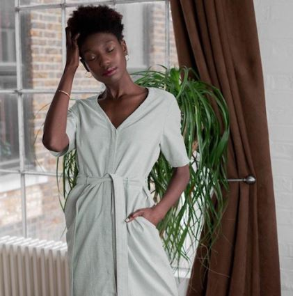 Organic cotton midi-dress