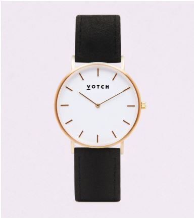 Votch black and gold classic watch