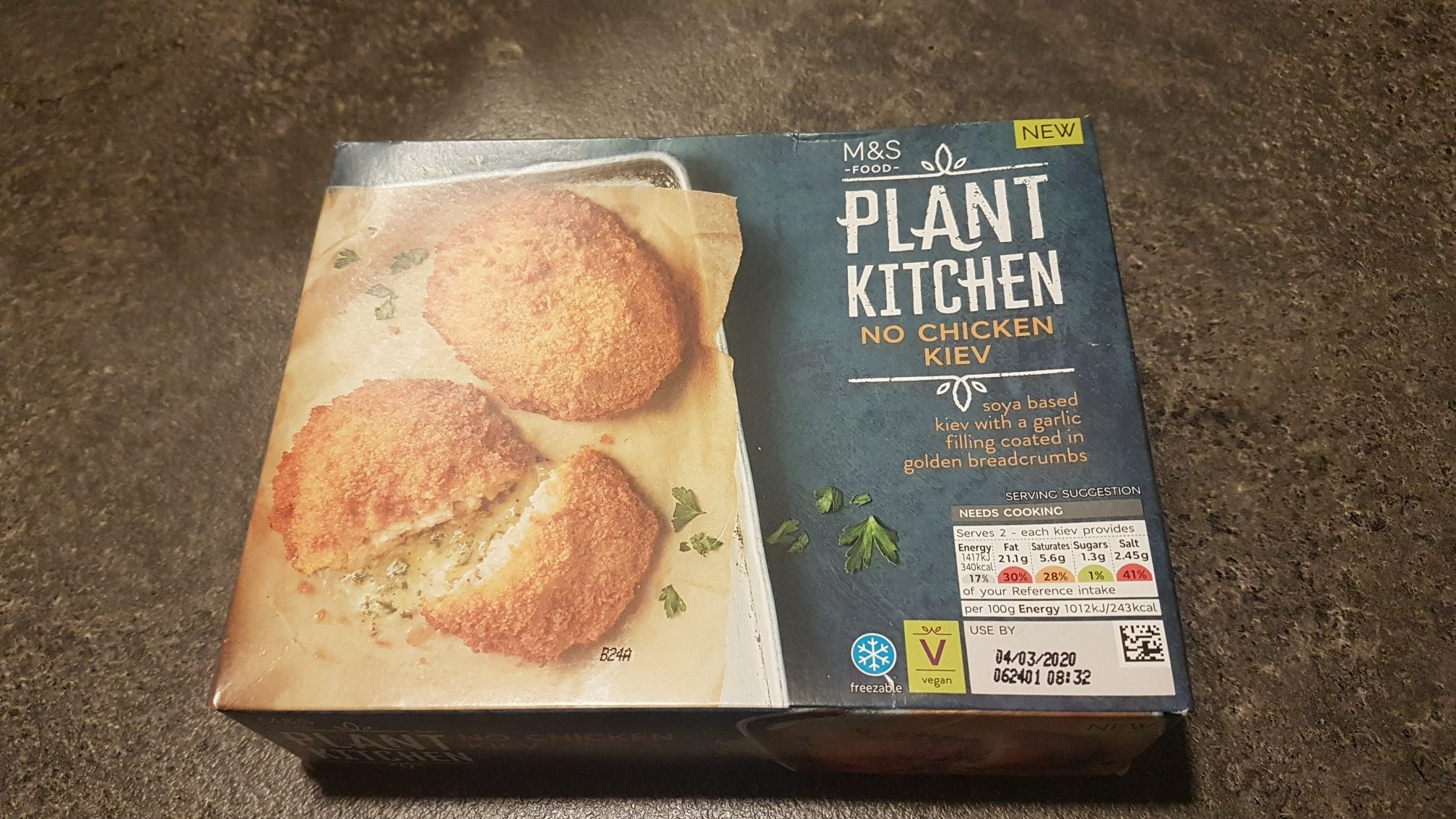 Review of vegan no chicken kiev